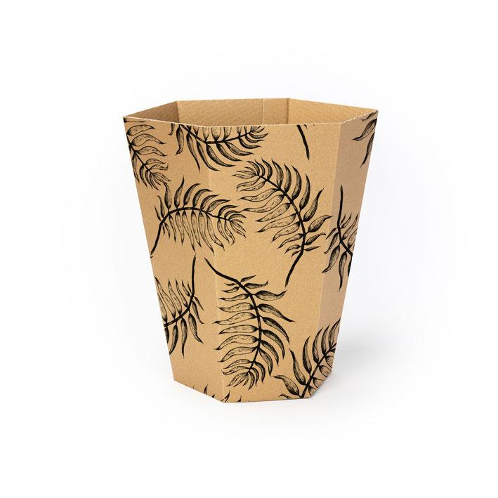 poubelle-decorative-palmes-en-carton